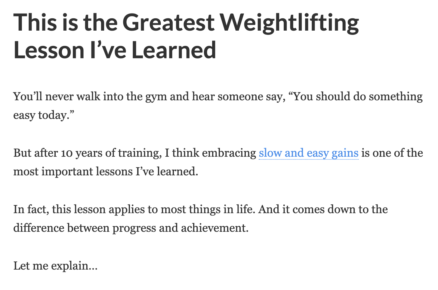 Greatest Weightlifting