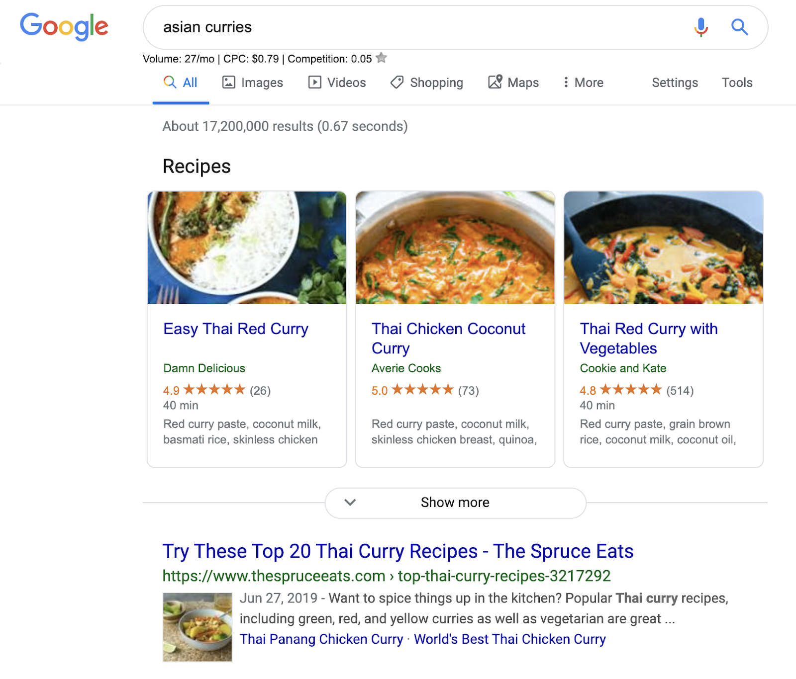 asian curries search results